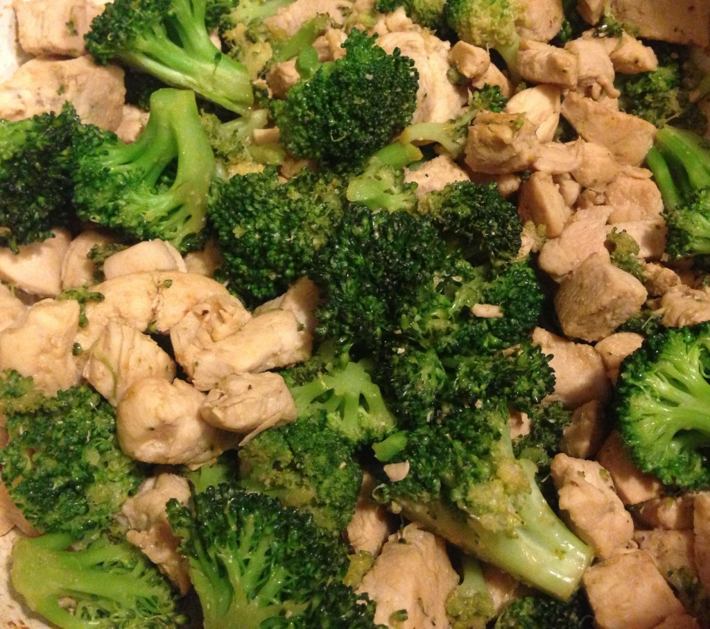 Simple Garlicky Chicken and Broccoli