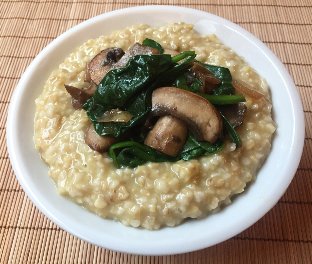 Savory Oatmeal | guesswhoscooking.com | Healthy, vegetarian, dairy-free, and can be made vegan or gluten-free
