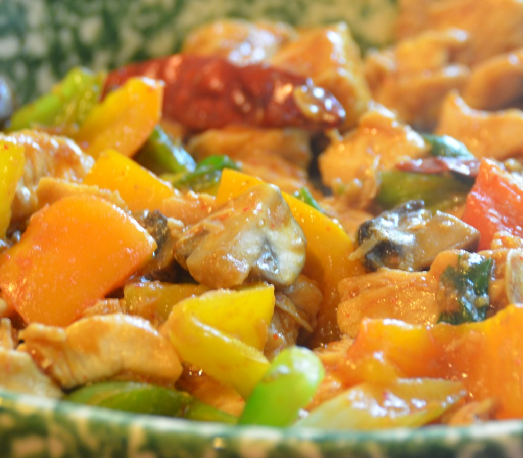 Kung Pao Chicken - healthy, clean, natural, low carb, gluten free, dairy free. http://guesswhoscooking.com