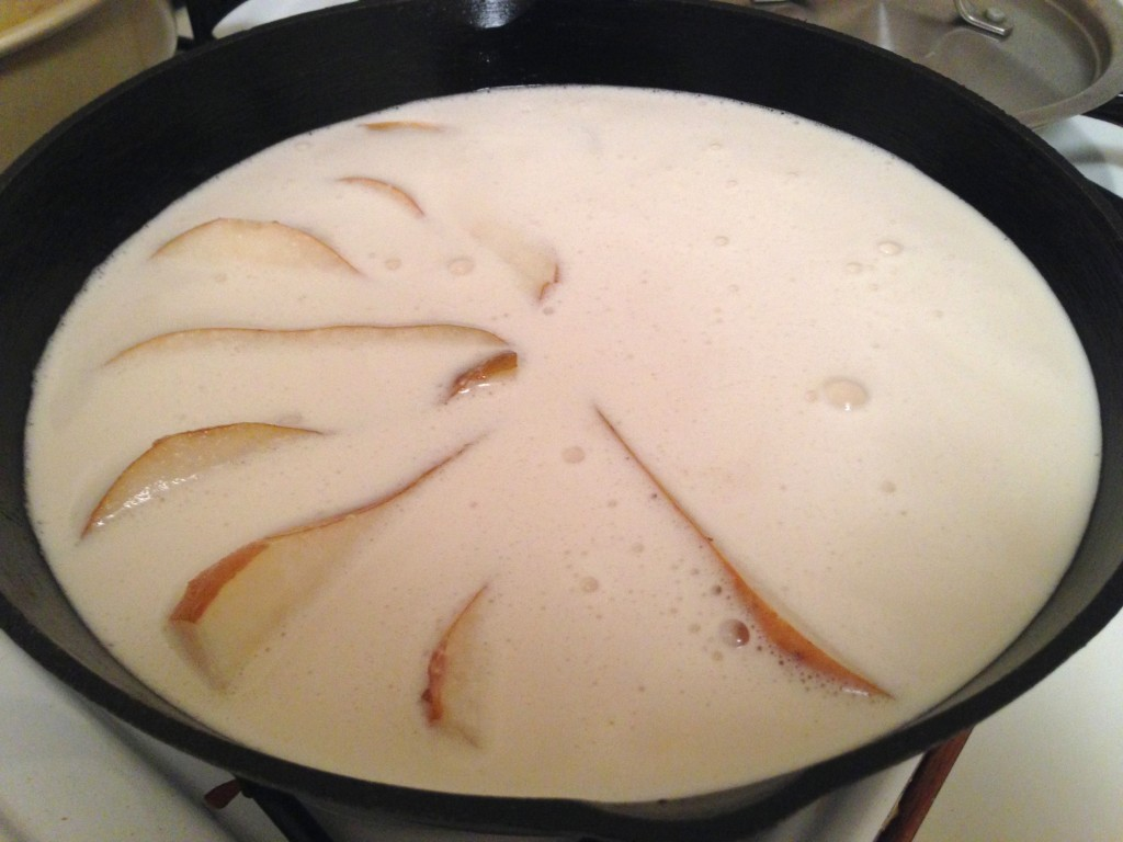 Pear Clafoutis - dairy free and gluten free. guesswhoscooking.com