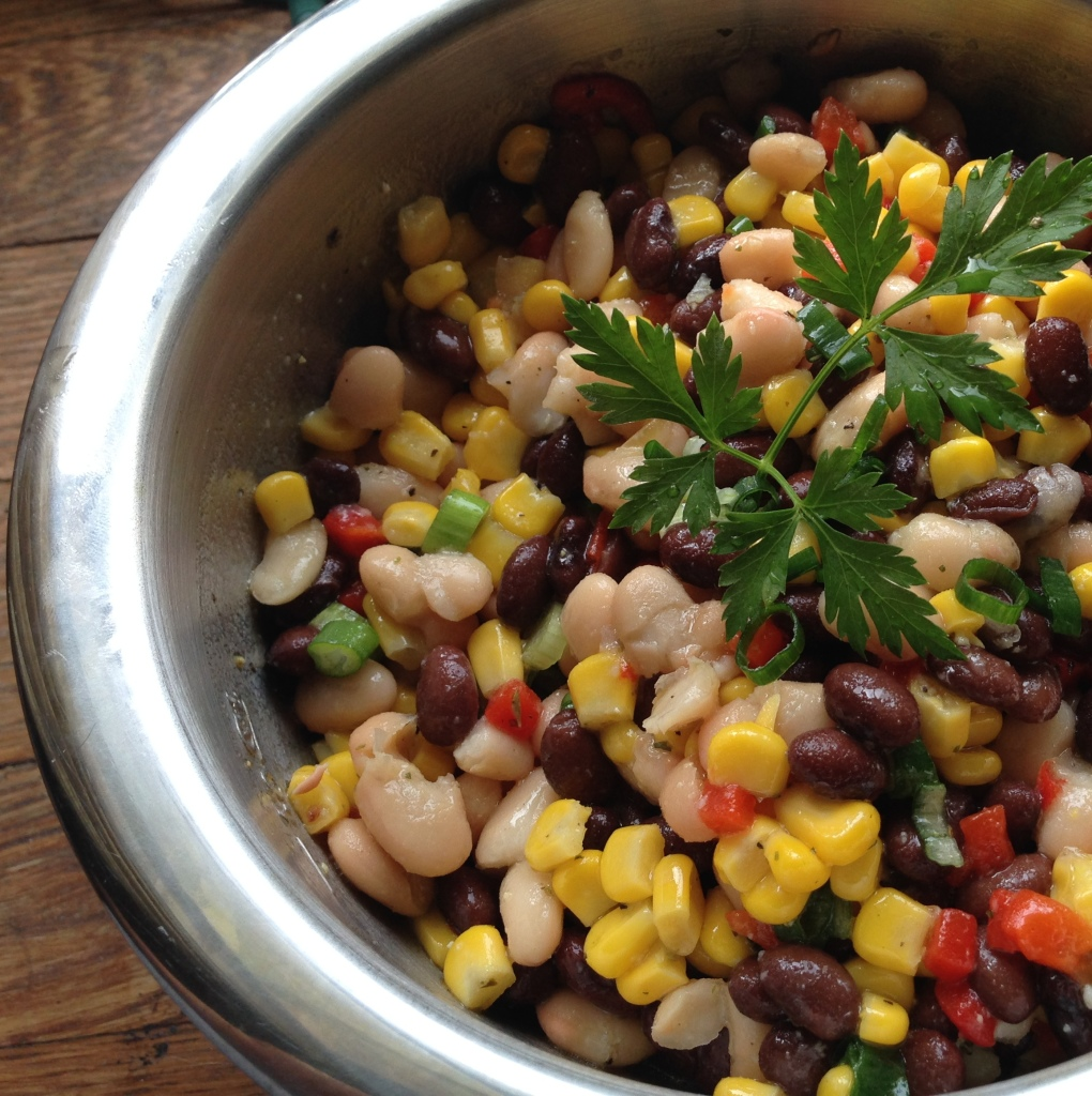 Bean and Corn Dip - Super easy. Guesswhoscooking.com