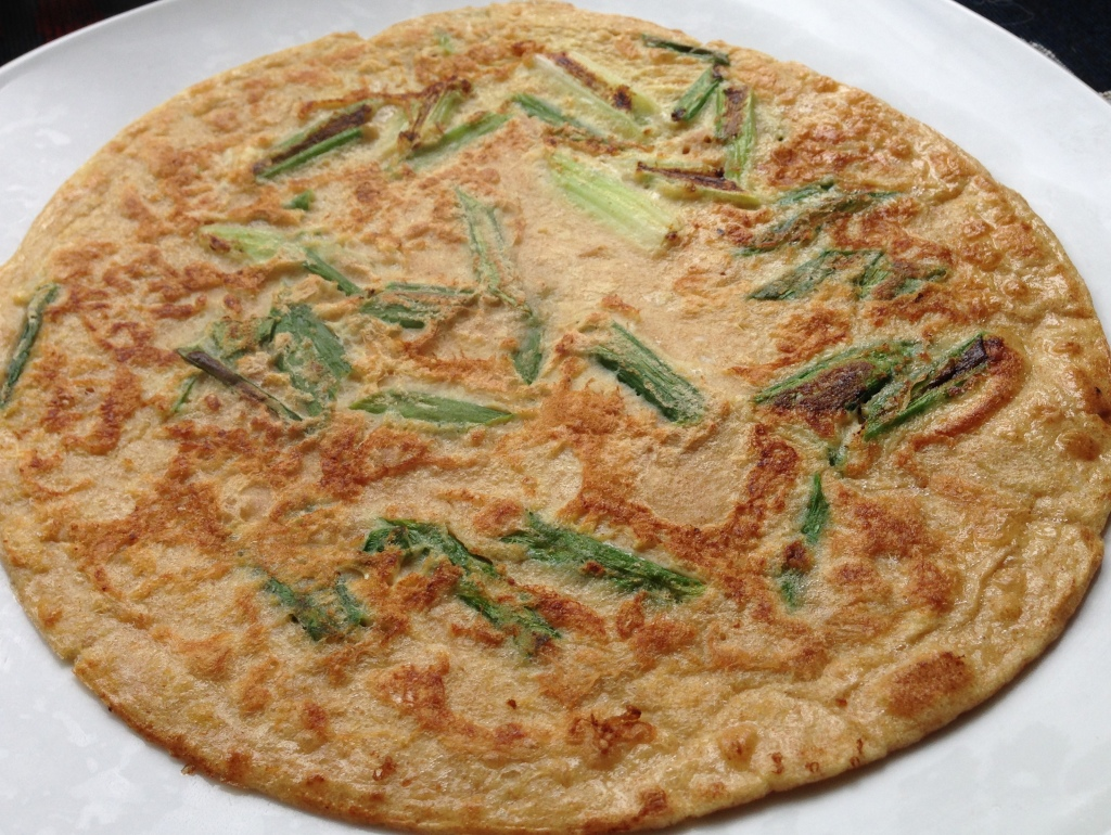 Healthy Whole Wheat Scallion Pancake - similar to Chinese or Korean pancakes. Guess Who's Cooking