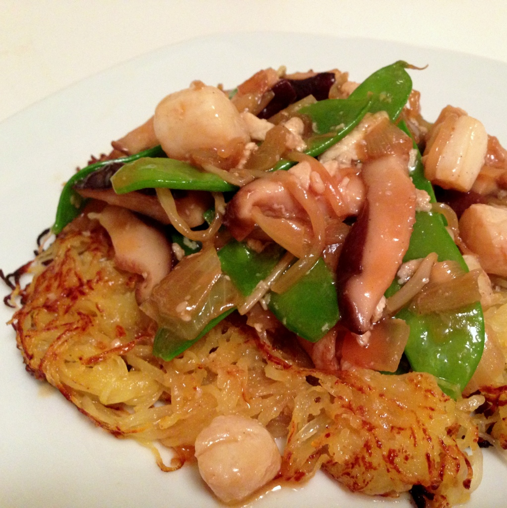 "Pan-Fried ""Noodles"" with Vegetable Stir Fry"