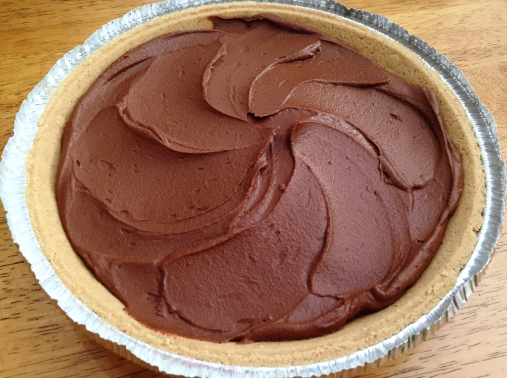 Chocolate Pumpkin Pie (no bake) | GuessWhosCooking.com | Healthy, easy, dairy free, egg free, vegan, vegetarian, low carb, less sugar added, can be made gluten-free