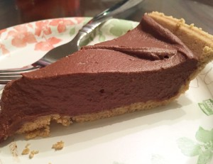Chocolate Pumpkin Pie (No Bake)