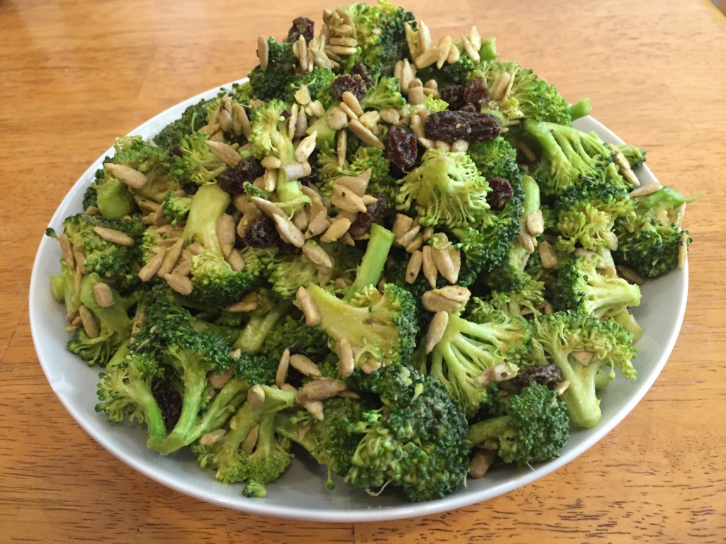 Vegan Bacon-Flavored Broccoli Salad   Guess Who's Cooking   Healthy, plant based, vegan, vegetarian, dairy free, egg free, gluten free, low carb, low sugar