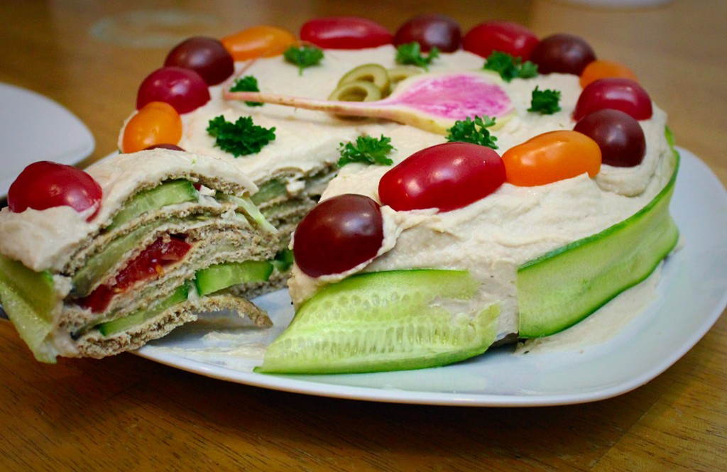 "Pita Sandwich ""Cake"" 