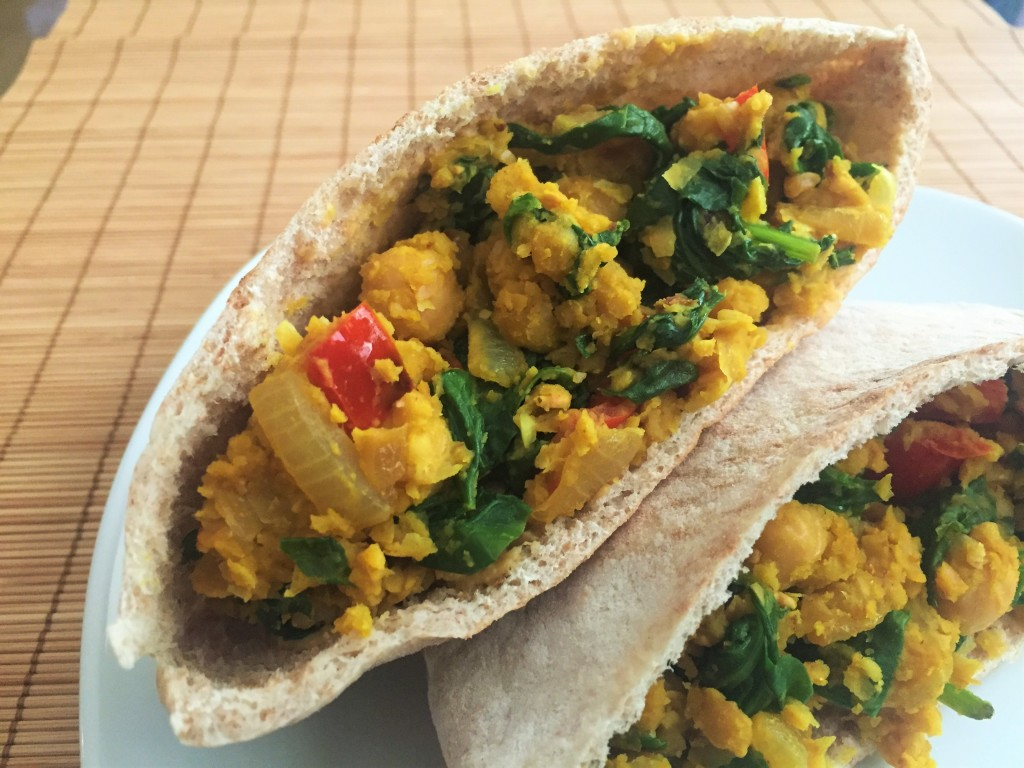 Breakfast Chickpea Pitas | Guess Who's Cooking | Healthy, plant-based, vegan, vegetarian, dairy-free, whole grain